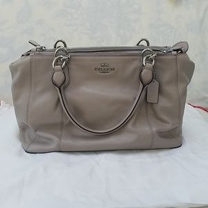 Creamy Beige Coach Purse
